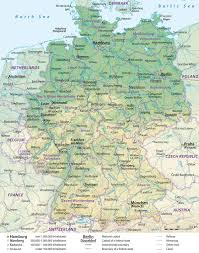 map of germany cities germany earth map