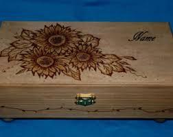 personalized wooden jewelry box decorative wood burned jewelry box wood jewelry chest tea