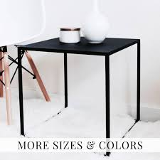 side table black coffee table side table modern cube table bed