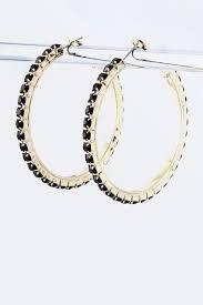 hoop beaded earrings arco hoop earrings more colors adorn apparel and