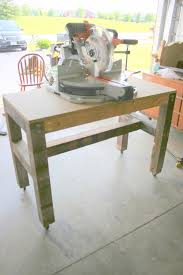 on bliss street easy and cheap miter saw table tutorial on