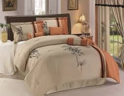 bedroom design natural 6 piece taupe comforter set with tree