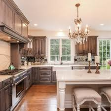 stained kitchen cabinets with hardwood floors gray stained cabinets houzz