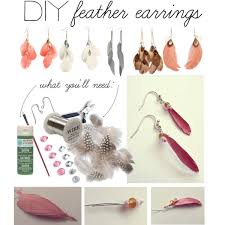 how to make feather earrings diy feather earrings polyvore