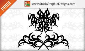 tribal tattoo free vector designs 123freevectors