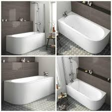 modern bath d shape back to wall corner bathtub pivot shower