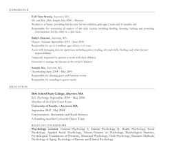 nanny resume exles shocking nannyesume sle template exles word position