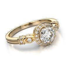 bridal gold ring vintage diamond engagement rings for bridal