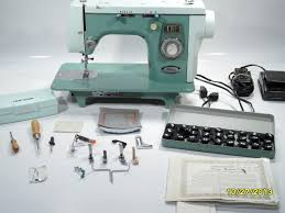 new home janome 445 heavy duty sewing machine with attachments and