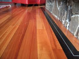 lyptus flooring with wenge feature and aluminum inlay