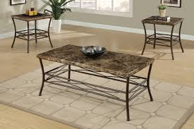 faux marble 3 piece coffee table set affordable furniture