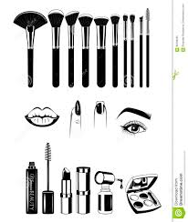 tools for makeup artists makeup artist brushs and tools nails and eye vector