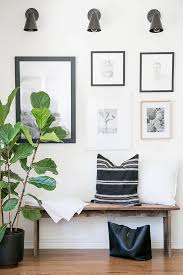bench living room my living room before and after fiddle leaf fig tree fiddle leaf