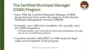 certified municipal manager program ppt download