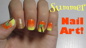 summer nail art ombre nails without a sponge youtube