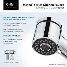 kraus pull out kitchen faucet faucet com kpf 2610 2600 41ch in chrome by kraus