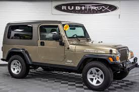lj jeep truck pre owned 2005 jeep wrangler lj rubicon