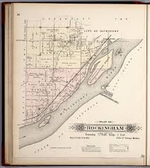 Michigan Township Map by Plat Of Rockingham Township Scott County Iowa David Rumsey