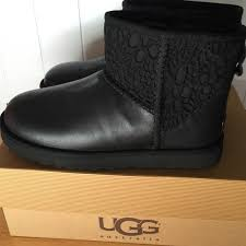 ugg sale manhattan ugg ugg black lace mini boots size 7 from vera s