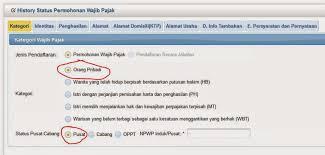 petunjuk membuat npwp online sang shafa cara membuat npwp online