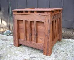 craftsman style redwood planter box mission by midcenturywoodshop