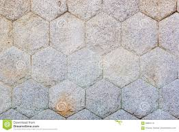 hexagon stone pattern wall texture stock photo image 68964116
