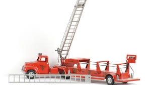 tonka fire truck 1954 tonka aerial ladder fire truck m363 the toy auction 2014