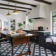 white kitchen cabinets black tile floor black and white tile floor kitchen ideas photos houzz