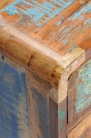 Wohnzimmerschrank Altholz Anrichte Kommode Sideboard Schrank Altholz Massiv Bunt Vintage Antik
