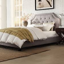 gray upholstered bed image of platform upholstered bed with