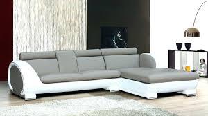 canape cuir taupe angle canape cuir blanc convertible canapacs cuir design sirio blanc