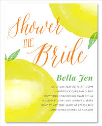 bridal cards lemon bridal cards citrus lemon invitations on recycled paper by