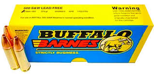 Barnes Xpb Buffalo Bore Ammo 500 S U0026w Lead Free Barnes Xpb 375 Grain 18d 20