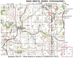 Map Of Spokane Washington Naturemapping Learning Protocols Mapping Practice For Spokane County