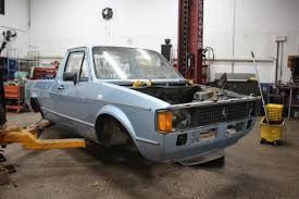 volkswagen rabbit truck custom i cut a vw rabbit pickup in half and hung it on my wall album on