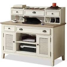 corner writing desk u0026 credenza with hutch by riverside furniture