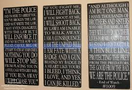 police sign law enforcement sign police decor distressed