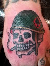 army helmet skull tattoos army flaming army