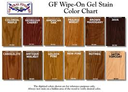 General Finishes Gel Stain Kitchen Cabinets General Finishes Wipe On Gel Stain Color Chart By Jenna Diy