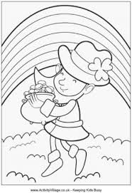 rainbow pot of gold coloring pages st patrick u0027s day colouring pages