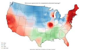 how do you say map in soda or pop maps colorful dialect differences