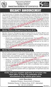 government bureau pakistan government bureau of statistics vacancy announcement the