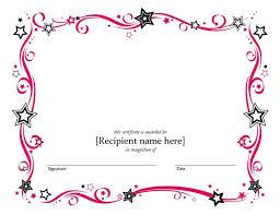 gift certificate template microsoft word blank certificate templates kiddo shelter blank certificate