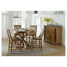 round table willow glen willow pine round counter dining table distressed pine target