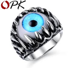 blue rock rings images Opk rock punk party gothic opal design superman ring personalized jpg