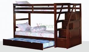 Bunk Bed With Trundle Alcor Bunk Bed With Storage Stairs And Trundle Xiorex