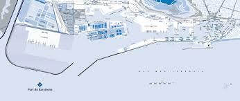 map port port barcelona map
