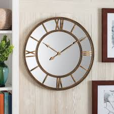 Gold Home Decor Accessories Better Homes And Gardens Mirror Clock Distressed Gold Walmart Com