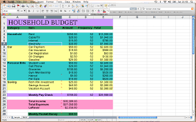 Household Budget Spreadsheet Template Personal Budget Template