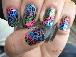 cheetah nail art neon colors anna charlotta